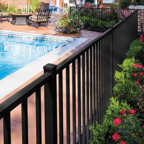 massachusetts pool fence - project photo
