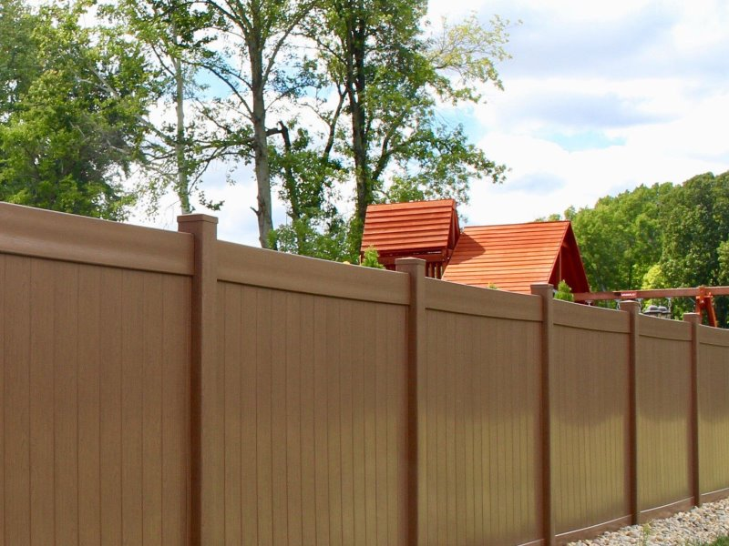 Popular Vinyl Pool Fence Greenbrier Style Selected by our Massachusetts and New Hampshire Residents
