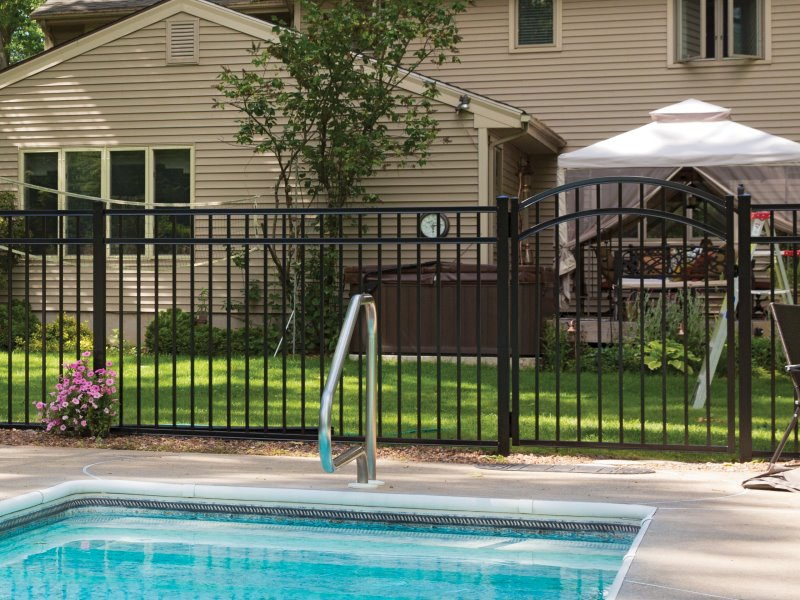 Popular Aluminum Fence Basalt Style Selected by our Massachusetts and New Hampshire Residents