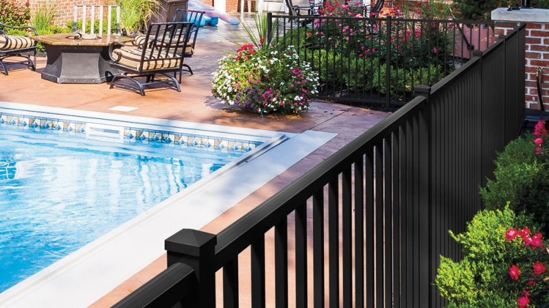Aluminum pool-code fencing in Massachusetts
