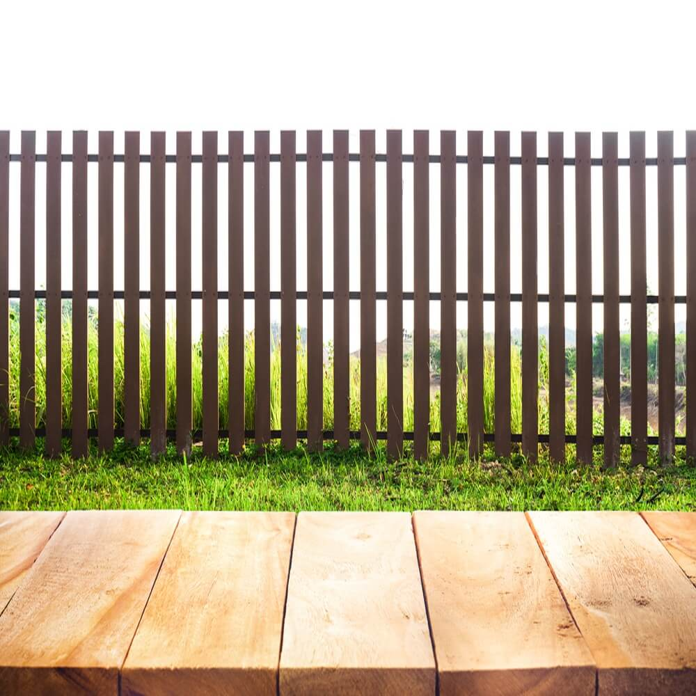 Flat Top Wood Fence